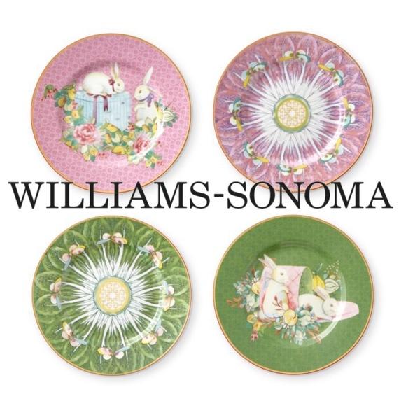 """Williams Sonoma Easter Plates 6.5"""" NWT RARE"""